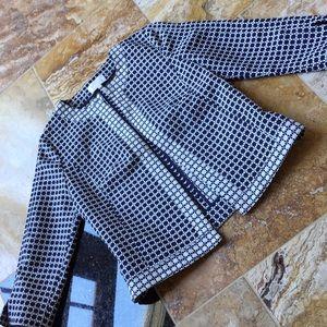 Laundry by Shelli Segal navy/white waist blazer